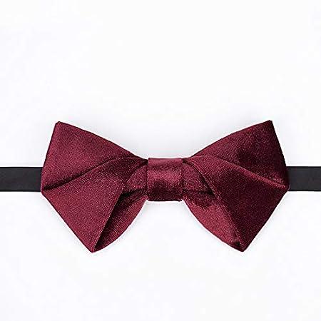 NLXTXQC - Corbata de Terciopelo con Textura, Color Rojo Vino ...
