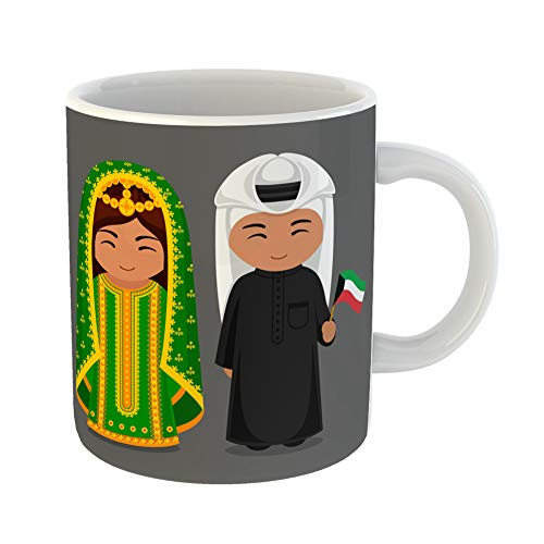 Emvency Funny Coffee Mug Kuwaitis in National Dress