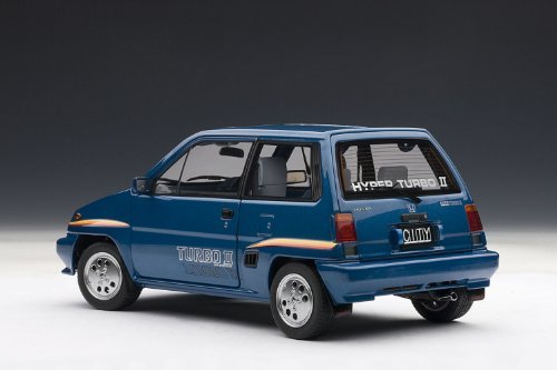 Amazon.com: Auto Art (AUTOart) AUTOart 1/18 Honda City Turbo II (blue) ※ Motokonpo/White finished product: Toys & Games