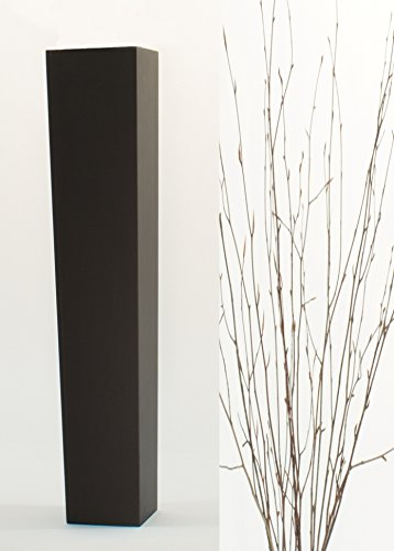 Greenfloralcrafts Natural Beech Branches In Slender Tapered Black Floor Vase 27 In H X 5 5 In