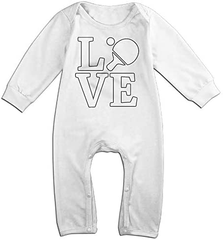 Suit 6-24 Months Toddler Round Collar I Love Tennis Long Sleeve Romper Jumpsuit 100/% Cotton