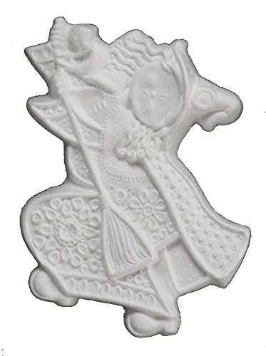 italveneta Teaching 9148 – Set 3 befane in polystyrene, 3D Embossed Hanging, Dimension 220 mm, White