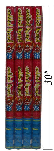 "Party Popper / 30"" Confetti Shooter (4 Pack)"
