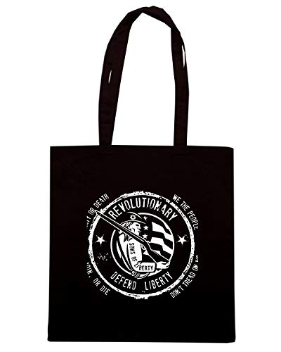 Borsa Shopper Nera TM0628 REVOLUTIONARY DEFEND LIBERTY