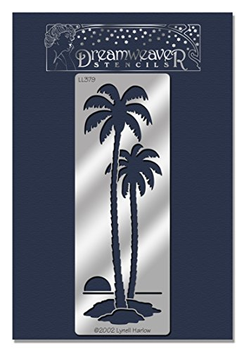 Stencil Palm Trees (Stampendous Dreamweaver Stencil, Tall Palm Trees)