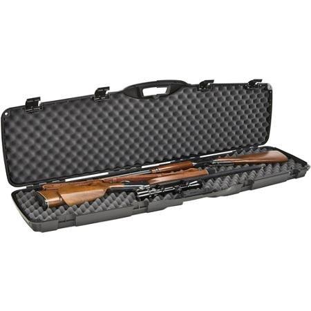 Gun Case, Scoped Rifle Shotgun Hard Case ~ Double Lockable Rifle Case Holds (2) 50