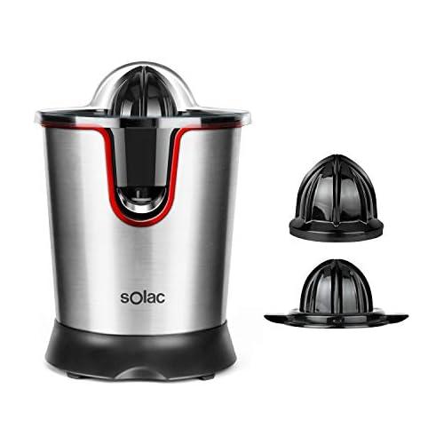 chollos oferta descuentos barato Solac Stillo 300 Exprimidor de inox de 300 W con motor AC con tapa presionable y desmontable filtro de inox