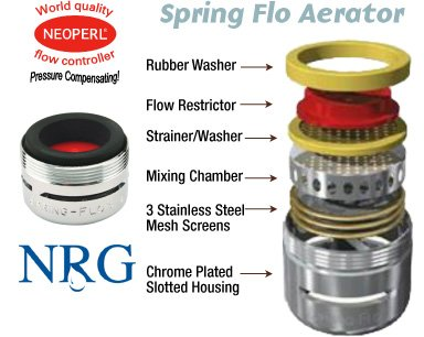 Neoperl Spring Flo 22 Gpm Slotted Faucet Aerator Plumbers