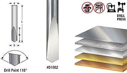 Spade Drill 1//4 Dia x 11//16 x 1//4 Sh 51686 CNC Solid Carbide 118/° Pt Amana Tool