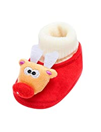 Newborn Baby Socks Christmas Deer Snowman Santa Warm Soft Sole Boots Kids Casual Shoes