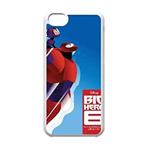 Special Lovely Nostalgic Big Hero 6 iPhone 5c Cell Phone Case-White Benefit Cool LHWANGN031988