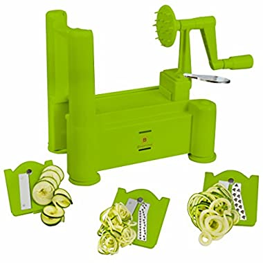 Brieftons Tri-Blade Spiralizer, Green
