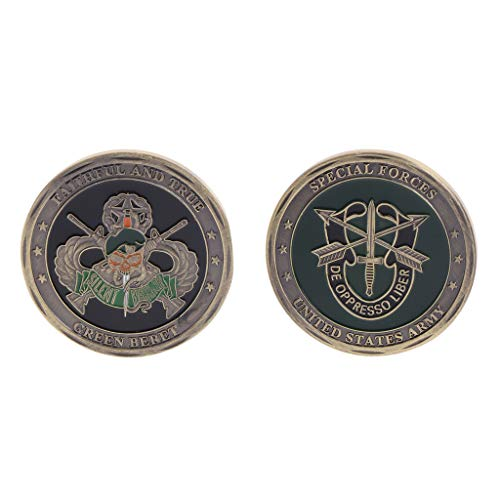 (Yuayan Commemorative Coin Plated Silver US Special Forces Army Souvenir Art)