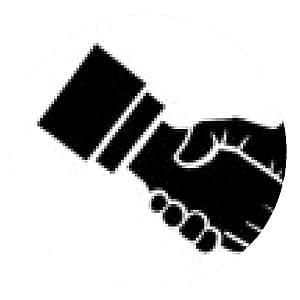 alfombrilla de ratón ilustración del apretón de manos - ronda - 20cm