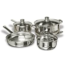 Gibson Cuisine Select Landon 7-Piece Stainless Steel Cookware Set