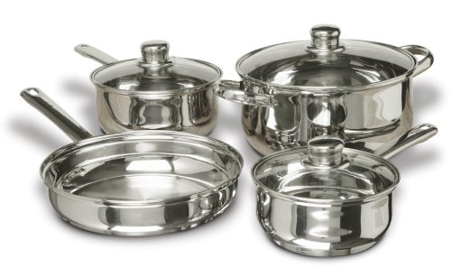 Gibson Home Landon 7-Piece Stainless Steel Cookware Set (Pot Sauce Stainless Steel Select)