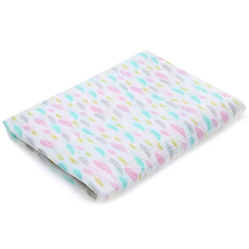 Muslin Swaddle Blankets Silky Soft 100% Cotton Absorbent 1 Pack 47×40 inch Large Muslin Swaddle Baby Shower Gift for Girl and Boy (Color NO6)