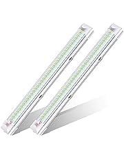 Ambother Led-binnenverlichting, 2 x 108 leds, 12 V, DC, inbouwlamp, inbouwlamp, universeel, RV, fluorescentielamp, voor camping, wit, set van 2 stuks