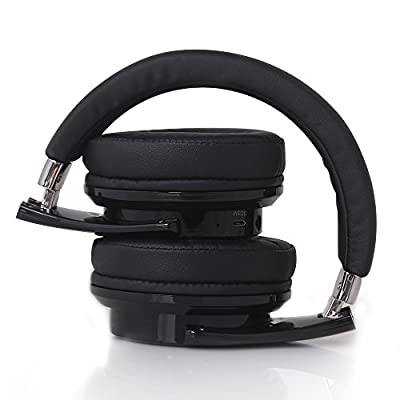 Bluetooth Over Ear Headphones Advanced Touch Control ZEALOT B21 Wireless Circumaural Earmuff Headsets with Microphone and Foldable Design(Black)