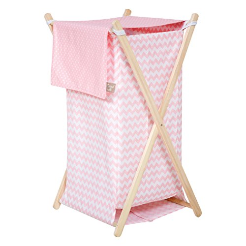 Trend Lab Sky Hamper Set, Pink by Trend Lab