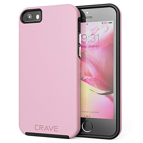 iPhone SE Case, Crave Dual Guard Protection Series Case for iPhone 5 / 5s / SE - Pink