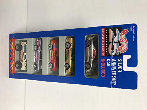 1993 Mattel Hot Wheels 25th anniversary Chevrolet 5 pack set with silver anniversary car