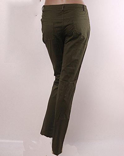 Leggings Taille Femme Mince Haute Verte Pantalon ZhuiKun Droit Arme Moulant qYwIWO