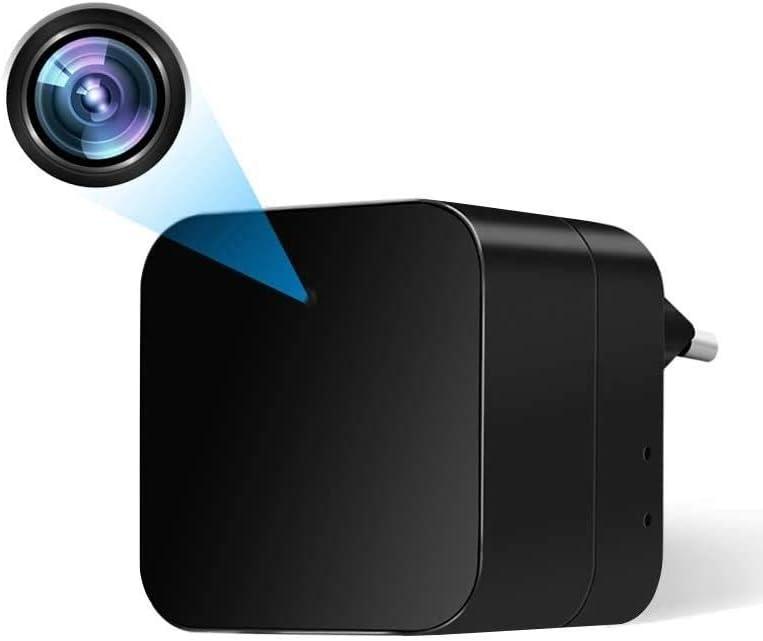 Camara Espia Oculta WiFi Cargador USB 1080P HD Mini Cámara Inalámbrica TANGMI Detección de Movimiento Cámara de Seguridad Vigilancia