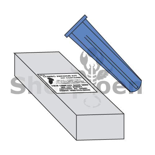 SHORPIOEN Conical Plastic Anchor Kit 14-16 BC-1424PACPK (Box of 10)