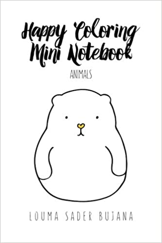 Happy Coloring Mini Notebook: Animals: Illustrated Coloring ...