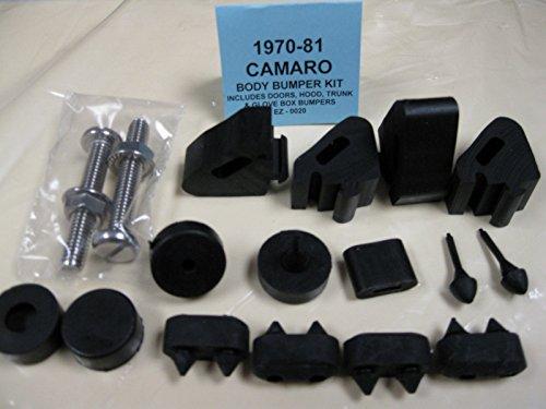 1970 1971 1972 1973 1974 1975 1976 1977 1978 1979 1980 1981 CHEVROLET CAMARO BODY BUMPER KIT - DOORS, HOOD, TRUNK & GLOVE BOX BUMPERS