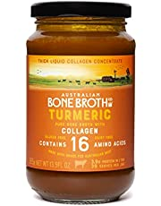 Australian Beef Bone Broth Concentrate - Turmeric with Collagen, instant healthy broth beverage. Made in Australia 395 gram