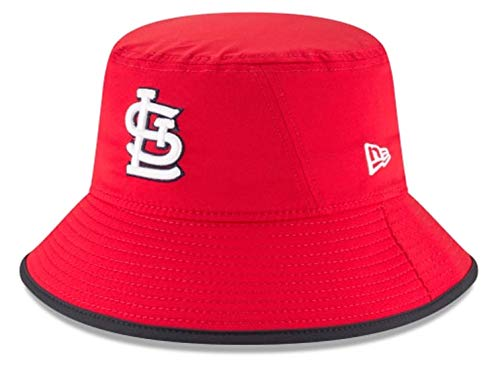 - New Era Authentic MLB 2019 Clubhouse Collection Bucket Hat Stretch Fit : One Size Fit Most (St. Louis Cardinals)