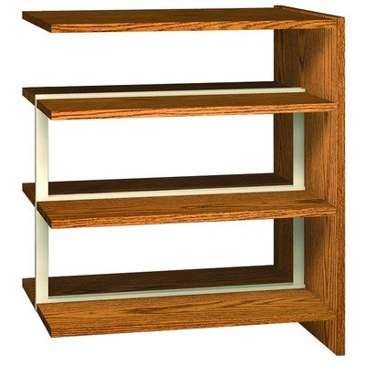 Ironwood Double Face Shelving Adder, 84'', Oiled Cherry