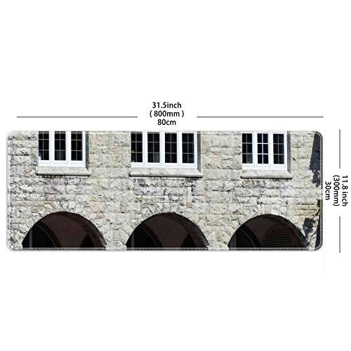 Mouse Pad Rectangle Mouse Pad Arcades Archways House Passage Window Masonry #99891 Series 800mm300mm3mm
