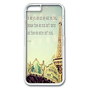 Custom Case with Dr. Seuss Quotes (Author of Green Eggs and Ham) Personalized Back Snap On Case for iPhone 6 4.7 PC Transparent