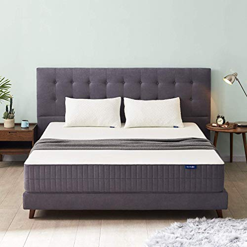 Sweetnight Queen Mattress-Queen Size Mattress,10 Inch Gel Memory Foam mattress with CertiPUR-US Certified for Back Pain Relief Motion Isolation Cool Sleep, Flippable Comfort from Soft to Medium Firm