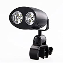 BBQ Grill Light, iThird 10 LED Barbecue Grill Light with Adjustable Handle Mount Touch Switch BBQ lighting Outdoor Grill Lighting Flashlight Torch Bicycle Headlight Battery Powered Black