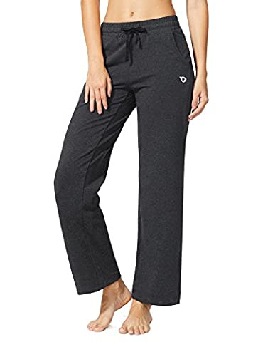 Baleaf Women's Activewear Drawcord Yoga Lounge Pants with Pockets Charcoal Size XXL (Womens Adventure Pants)