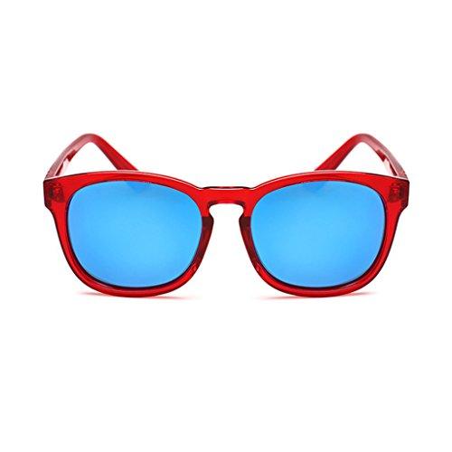 6db653e4a0 ... Élégant Protection Polarisé Sunglasses UV400 Red Femme Rétro lunettes  52mm soleil ...
