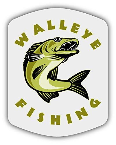 """Walleye Fishing Car Bumper Sticker Decal 4/"""" x 5/"""""""