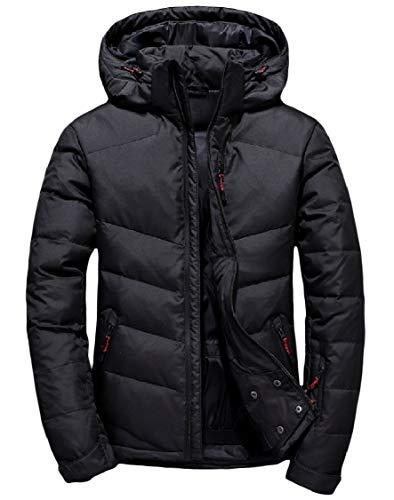 Cofano Spesso Energymen Outwear Piumini Puffer Inverno Neri Corto Rimovibile wt7xT