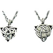 Trinity Knot Perfume Diffuser Necklace Z39 Pewter Irish Celtic
