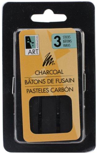 Art Alternatives Charcoal Drawing Sticks 3/Pkg- by Art Alternatives