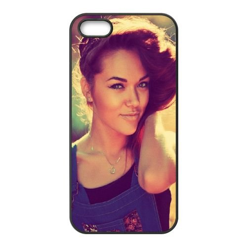 Girl Brunette Eyes Smile 69572 coque iPhone 5 5S cellulaire cas coque de téléphone cas téléphone cellulaire noir couvercle EOKXLLNCD23931