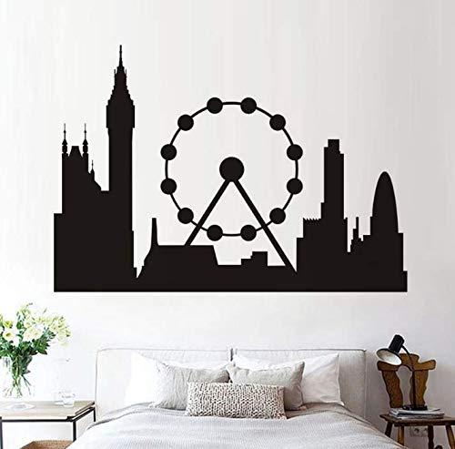 Chi Wall Sticker Mural Negro London Skyline Landmark Silhouette ...