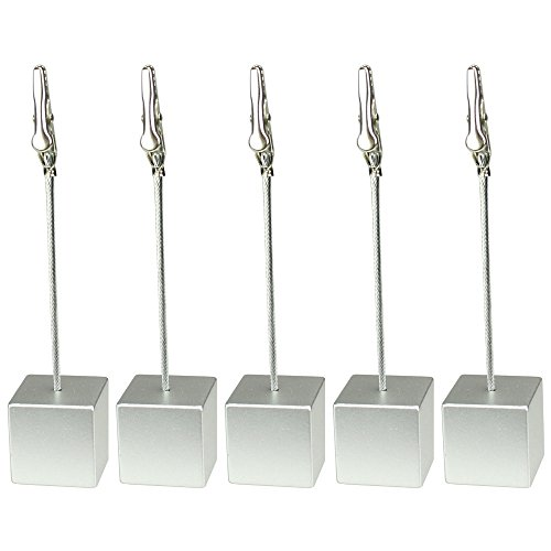 10 Pieces, Clickstore Silver Cube Wire Picutre, Note, Card, Memo Clip, Photo Holder, New Promotion Gift, Meeting Wedding Holiday Decorate New Memo Cube