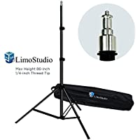 LimoStudio 7 ft. 86 inch Thick & Sturdy, Length Adjustable, Photography Light Stand Tripod with Carrying Bag, Photo Studio Supporting Kit, AGG1896