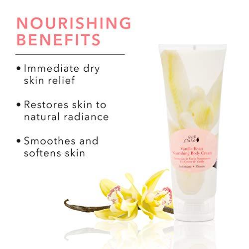 414QqUHq4YL - 100% PURE Nourishing Body Cream, Vanilla Bean, Body Lotion for Dry Skin, Anti-Aging, Moisturizing Cocoa Butter, Natural Body Lotion - 8 Fl Oz
