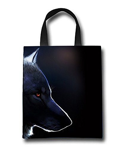 Wolf Art Beach Tote Bag - Toy Tote Bag - Large Lightweight Market, Grocery & Picnic by Linhong